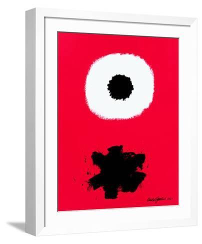 White Disc Red Ground, c.1967-Adolph Gottlieb-Framed Art Print