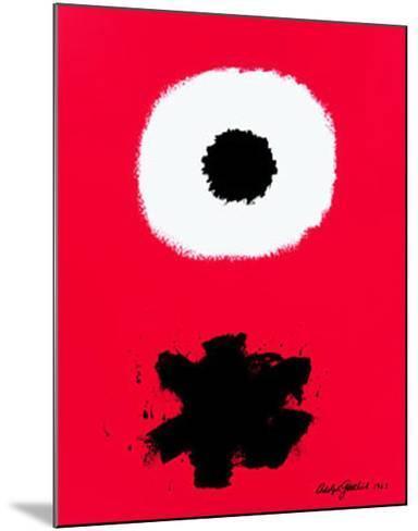 White Disc Red Ground, c.1967-Adolph Gottlieb-Mounted Art Print