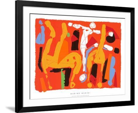 Chevaux et Cavaliers V, c.1972-Marino Marini-Framed Art Print