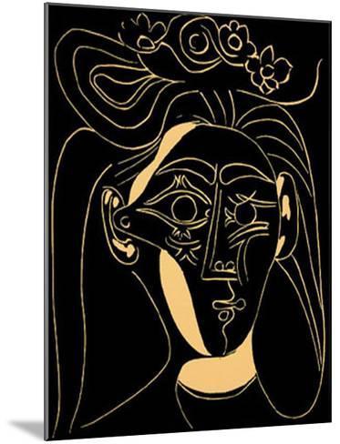 Femme au Chapeau Fleuri-Pablo Picasso-Mounted Serigraph