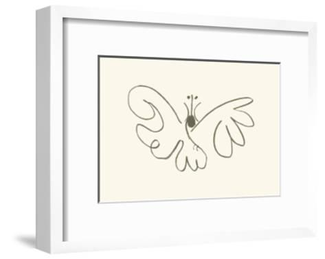 The Butterfly-Pablo Picasso-Framed Art Print