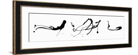 Zeichnung Tropftechnik-Jackson Pollock-Framed Art Print