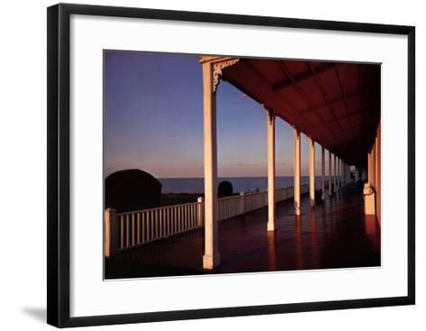 Spring House Porch Block Island- Harty & DeRosa-Framed Art Print