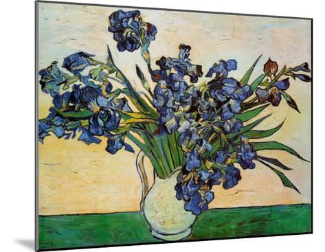 Vase of Irises, c.1890-Vincent van Gogh-Mounted Art Print