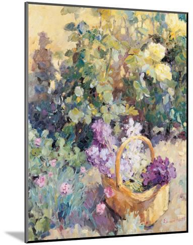 Basket with Flowers-Edward Noott-Mounted Art Print