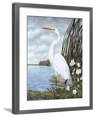 Great White Egret-James Harris-Framed Art Print