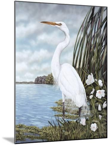Great White Egret-James Harris-Mounted Art Print