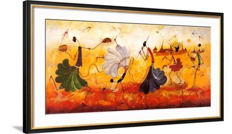 Dancers-Kalidou Kass?-Framed Art Print
