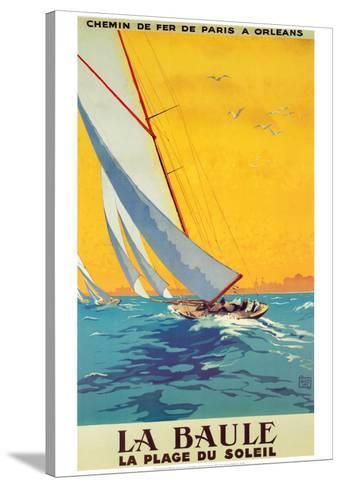 La Baule-Alo (Charles-Jean Hallo)-Stretched Canvas Print