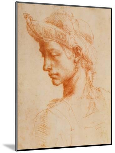 Drawing of a Woman-Michelangelo Buonarroti-Mounted Art Print