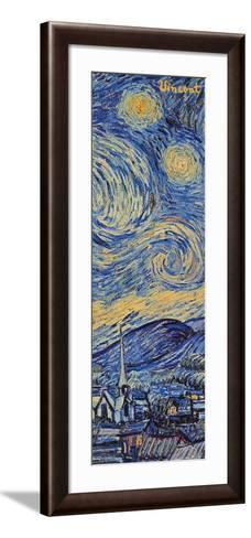 Starry Night, c.1889 (detail)-Vincent van Gogh-Framed Art Print