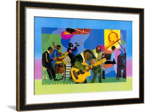 Jammin' at the Savoy-Romare Bearden-Framed Art Print