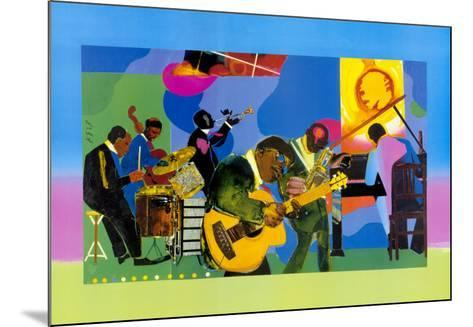 Jammin' at the Savoy-Romare Bearden-Mounted Art Print