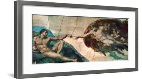 Creation of Adam-Michelangelo Buonarroti-Framed Art Print