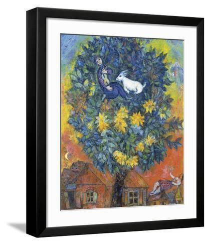 Autumn in the Village-Marc Chagall-Framed Art Print