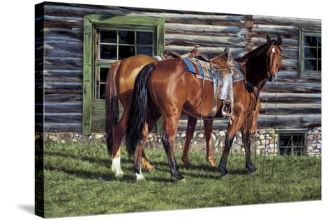 Curly and the Kid-Ann Hanson-Stretched Canvas Print