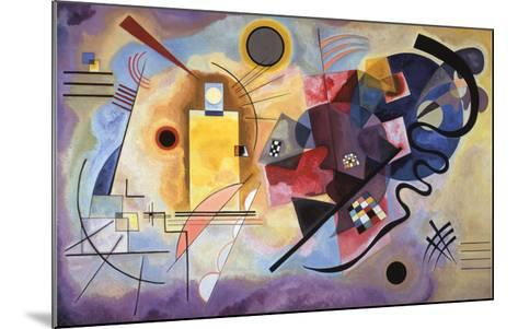 Yellow, Red and Blue, c.1925-Wassily Kandinsky-Mounted Art Print
