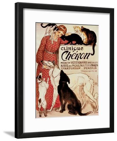 Clinique Cheron, c.1905-Th?ophile Alexandre Steinlen-Framed Art Print