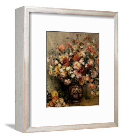 Dahlias-Pierre-Auguste Renoir-Framed Art Print