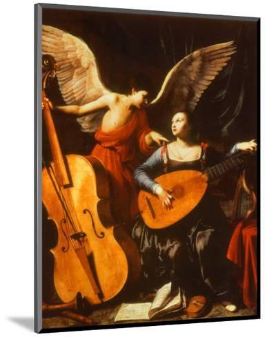 St. Cecilia and the Angel-Carlo Saraceni-Mounted Art Print