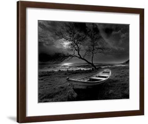 Boat on Top of the Cliff-Olivier Meriel-Framed Art Print