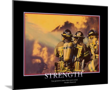 Strength--Mounted Art Print