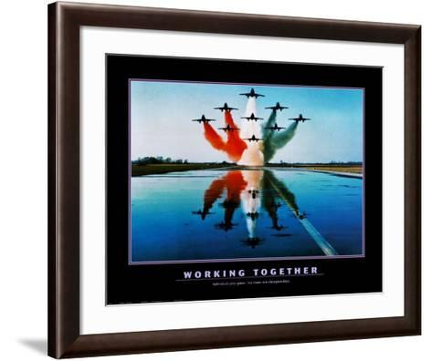 Working Together--Framed Art Print