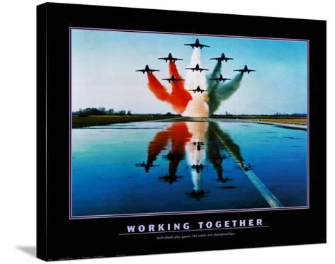Working Together--Stretched Canvas Print