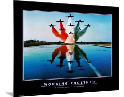 Working Together--Mounted Art Print