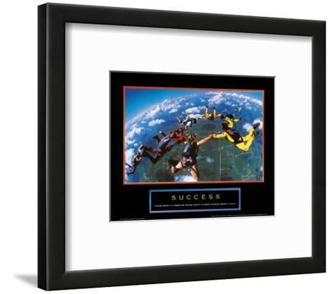 Success: Skydivers--Framed Art Print