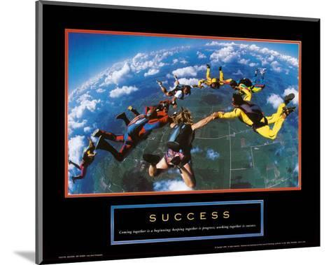 Success: Skydivers--Mounted Art Print