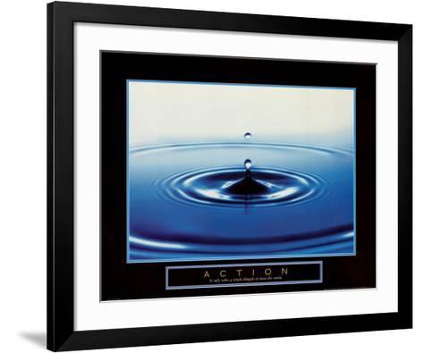 Action: Drop of Water--Framed Art Print