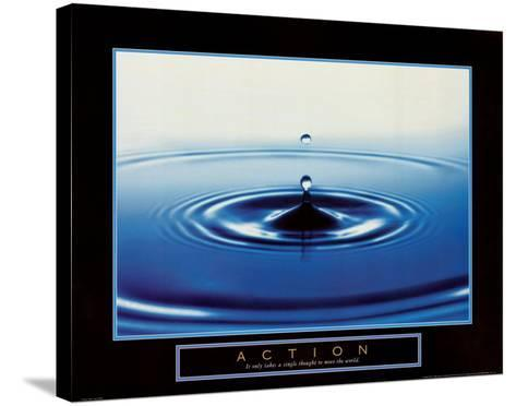 Action: Drop of Water--Stretched Canvas Print