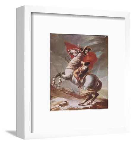 Napoleon Crossing the St. Bernard Pass, c.1801-Jacques-Louis David-Framed Art Print