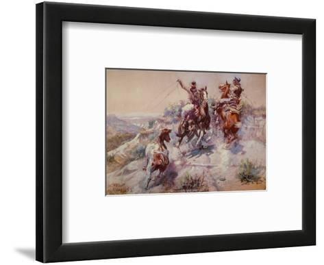 Mad Cow-Charles Marion Russell-Framed Art Print