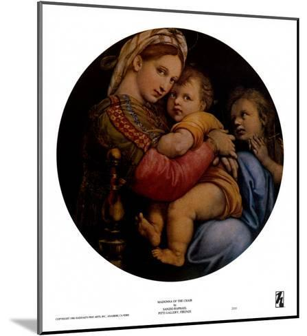 Madonna of the Chair-Raphael-Mounted Art Print