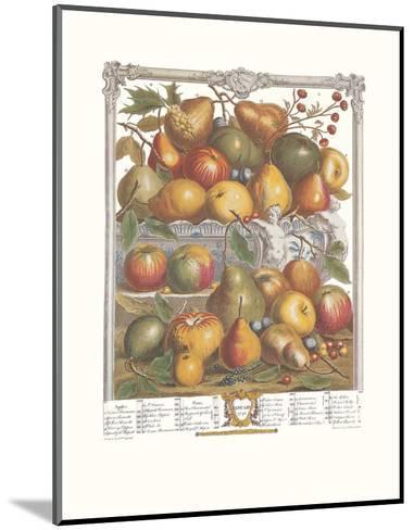Twelve Months of Fruits, 1732, January-Robert Furber-Mounted Art Print