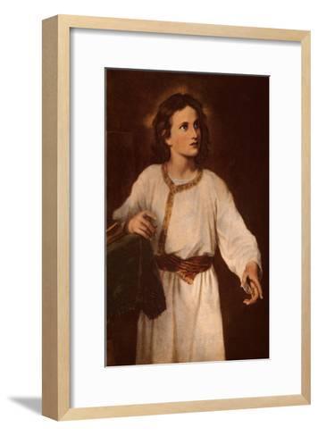Jesus at Twelve-J^ M^ Hoffman-Framed Art Print