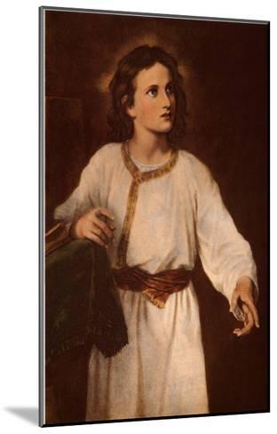 Jesus at Twelve-J^ M^ Hoffman-Mounted Art Print