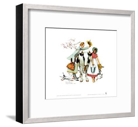 Traveling Salesman-Norman Rockwell-Framed Art Print