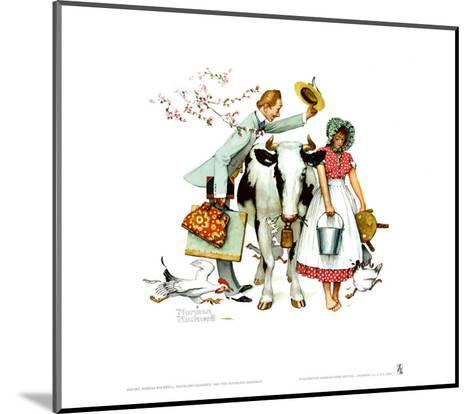 Traveling Salesman-Norman Rockwell-Mounted Art Print