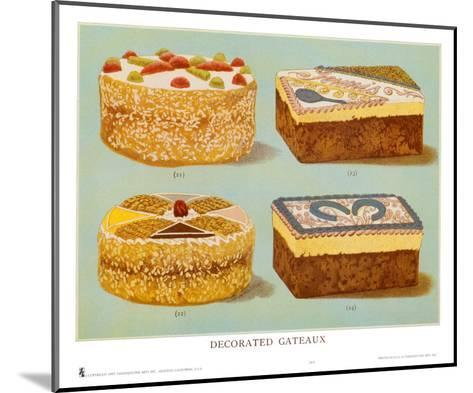 Decorated Gateaux, Occasion--Mounted Art Print
