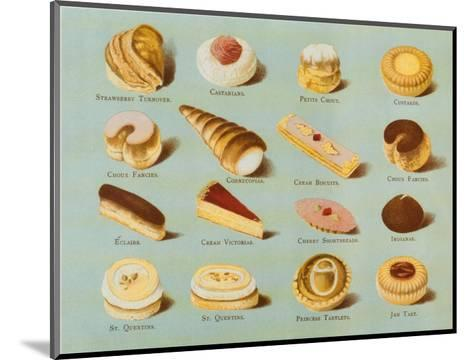 Variety of Fancy Pastry--Mounted Art Print
