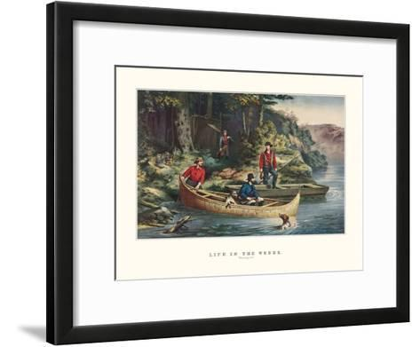 Life in the Woods-Currier & Ives-Framed Art Print