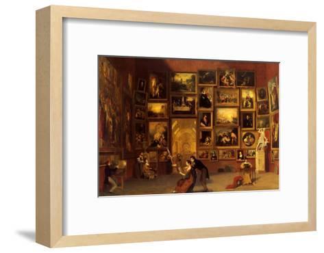Gallery of the Louvre, 1831-33-Samuel Finley Breese Morse-Framed Art Print