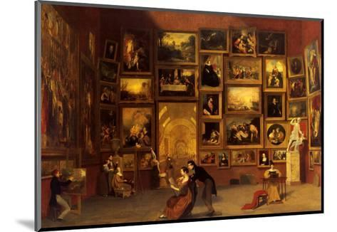 Gallery of the Louvre, 1831-33-Samuel Finley Breese Morse-Mounted Art Print