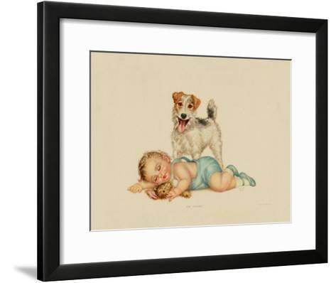On Guard-Charlotte Becker-Framed Art Print