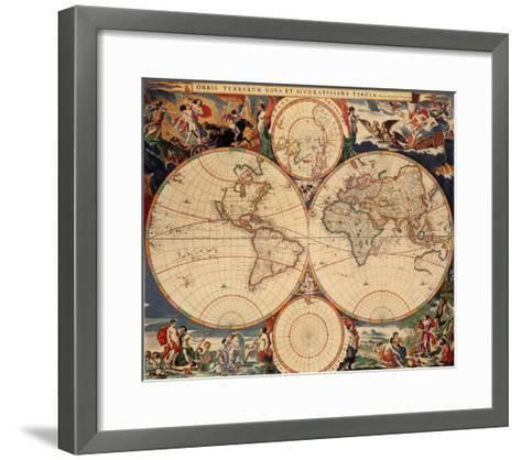 World Map-Nicholas Visscher-Framed Art Print