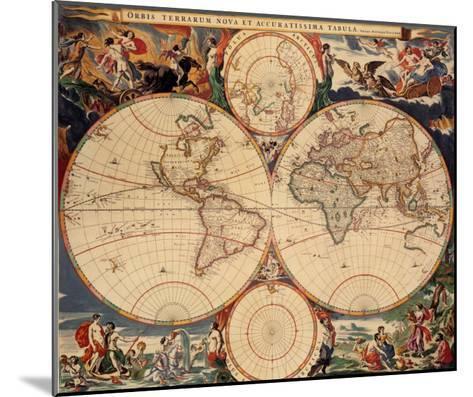 World Map-Nicholas Visscher-Mounted Art Print
