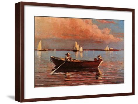 Gloucester Harbor-Winslow Homer-Framed Art Print